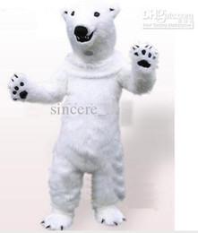 Wholesale 2016 hot sale Polar Bear Plush Adult Mascot Costume EMS