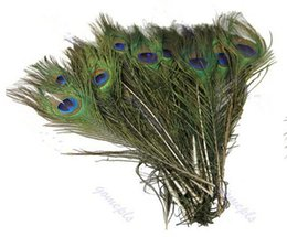 Wholesale 50pcs Pack Beautiful Natural Peacock Tail Feathers About inch For DIY Decoration