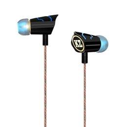 Promotion bruit bleu annulation Gros-New 2015 Marque KZ Métal Professional Musique écouteur pour IPhone Noise / Samsung / MP3 Cancelling HIFI écouteurs Couleur Bleu