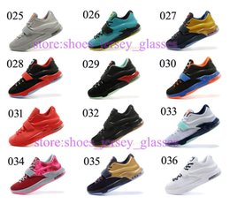 Wholesale Kd7 VII Cheap Mens Basketball Shoes Bad Apple kds Sneakers kd Midnight Navy Size