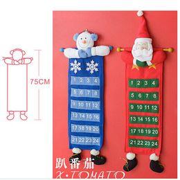 Wholesale cm Christmas Santa Claus And Snowman Christmas Advent Calendar Christmas Stocking