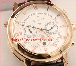 High-quality Automatic movement High quality sapphire glass white Duo dial leather strap wristwatch Sky Moon Tourbillon 5002P