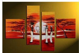 Wholesale Huge Africa wall art Abstract modern oil paintings on canvas oil paintings from artist oLo PS_132