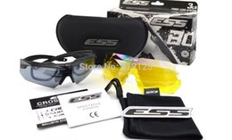 Wholesale Pairs Lens Revo Fire Iridium ESS Crossbow Outdoor Sports Tactical Army Bullet proof goggles sunglasses eyewear ESS ICE