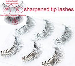 3 pairs is a set handtied eyelashes hand sharpen tip eyelashes Japanese style eyelashes Japanese high-grade sharpened eye end encryption