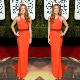 Wholesale 2016 The rd Golden Globe Awards Amy Adams Celebrity Dresses Jewel Sleeveless New Arrival Evening Dresses Cheap Formal Gowns