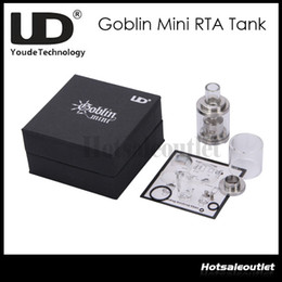 Huge Stock Now!!UD Youde Goblin Mini RTA Atomizer Tank 3ml Airflow Control Stainless Steel Rebuildable Atomizer 100% Original