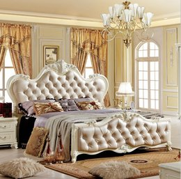 Wholesale factory price bed Fashion European French Carved bed furniture m bed