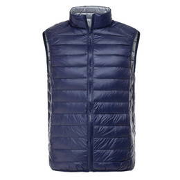 Fall-2015 Men's Ultra Light Down Double Sided Zipper Puff Gilet Vests Jackets Waistcoat Winter Jackets 5 Colors