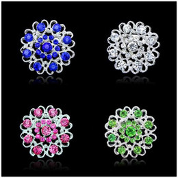 Wholesale Small Brooches Pins Silver Rhinestone Crystal Brooch Wedding Fashion Party Brooches Women Christmas Jewelry Gift