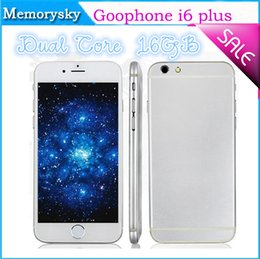 Wholesale 2014 New Arrival inch Goophone i6 i6 Dual Core MTK6572 GHz GB GB Android Jelly Bean GPS WiFi G WCDMA Smart Phone