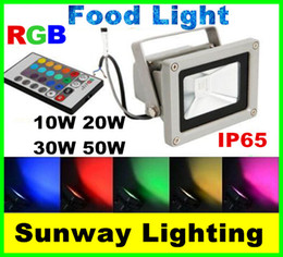 Wholesale Outdoor W W W W W Waterproof IP65 LED Flood Light RGB Color Changing Wall Washer Lamp LED Lighting Key IR Remote Controller