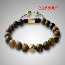Wholesale 2016 NEWS HOT Nialaya Pure natural stone Alloy point drill Bracelets Shamballa Strip alloy Weave Best Popular Beaded Bracelet