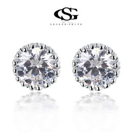 Wholesale Samples For Earrings - 015 G&S Free Shipping New Year Gift Austria Big Crystal Sample Stud Earrings zircon 100% Man-made Round Eearring For Women102044324