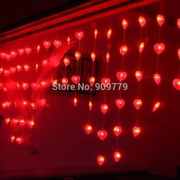 Grosshandels Lustres De Sala Luminaria Teto 72 LED Vorhang Kronleuchter Luminarias Para Dekoration Navidad Lampe 1M Herz Schnur Lichter
