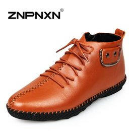 ZNPNXN Men Shoes Sapatos Tenis Masculino Male Fashion Autumn Winter Leather Boots For Man Casual High Top Men Shoes black 39-44