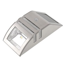 Solar Power Automatically Stainless Motion Sensor Wall Durable Outdoor Security Emergency Light Lamp