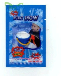 Wholesale 100pcs Magic Prop DIY Instant Artificial Snow Powder g OPP package Simulation Fake Snow for Party Christmas Decoration