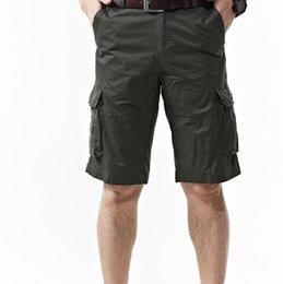 Wholesale Jeep Summer Mens Shorts Cargo Shorts Men Large Size Men Solid Many Pockets Men s Casual Pants Bags Slacks Men s Pants Shorts