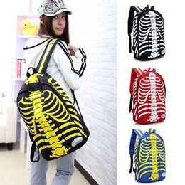Wholesale Student s Skull Print Backpack Book Bag Pattern Fashion Rucksacks School bag