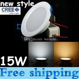 New Ultra Thin 15W Dimmable Led Recessed Downlights 110-240V Cool Warm White Led Indoor Ceiling Light With Driver CE ROHS UL