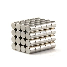 Free Shipping 40pcs Cylinder 5mm Dia. x 5mm N50 Rare Earth Neodymium Magnet Strong NdFeB Magnets