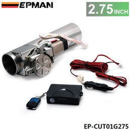 """EPMAN - Universal 2.75"""" Exhaust Pipe Electric I Pipe Exhaust Electrical Cutout with Remote Control Wholesale Valve EP-CUT01G275"""