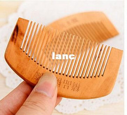 Wholesale Natural health care comb anti static comb comb Peach WOOD hair brush hairbrush hair comb