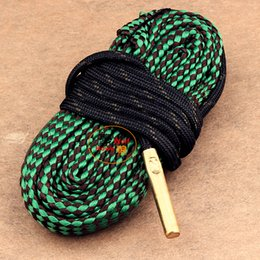 Wholesale Bore Snake Gun Cleaning Cleaner Brass Weighted Cord Rope Fit Shotgun Rifle Pistol clean Boresnake