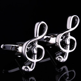Silver music Cuff Links Enamel Fashion Business Weddings Cufflinks sleeve nail top grade gifts fashion accessories