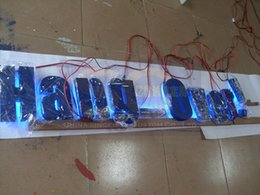 Wholesale customized painted metal iron halo backlit led sign letters channel letters outdoors waterproof