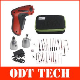 Wholesale 2015 New Cordless Electric Pick Gun Rechargeable Auto Locksmith Tool DHL Fedex with Best Quality A