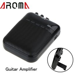 Wholesale 5V W Portable Recharge Mini Cube Electrical Guitar Amplifier Guitar Tune Song Recorder Audio Speaker Aroma AG M