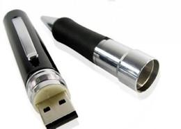 Micro cámara espía oculto en venta-8GB 640 * 480 AVI HD agujero de alfiler DVR espía pluma de la cámara de la cámara ocultada DVR de la pluma ocultada DV micro cámara ocultada
