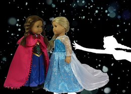 Wholesale Doll Clothes Fits quot American Girl Doll quot FROZEN quot Princess Anna Outfit Elsa Dress Girl Birthday Present Xmas Gift D06H09