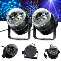 Wholesale 1pcs LED Mini Rotating lamp Magic Ball Party Light Disco Stage Lighting RGB Colorful Disco DJ Party KTV Stage Light laser Light