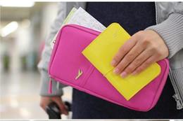 Wholesale Pouch Wallet Travel Journey Fabric Passport ID Card Holder Case Cover Wallet Purse Organizer Bag Makeup Bag