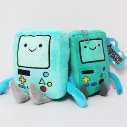 Wholesale Cartoon Adventure Time Bmo plush toy Jake Finn friend BMO game machine super cute gift Stuffed dolls styles