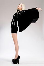 Gothic Leather Latex Cloak Women Dress Catsuit Nightclub Jumpsuit PVC Sexy Lingerie Plus Size Bodysuit Sexy Costumes Women Cosplay Uniforms