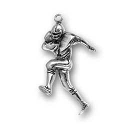 Wholesale Top Quality a Antique Silver Plated Personalized Fitness Sport Dangle Running Football Player