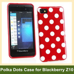 Wholesale Popular Polka Dots Soft TPU Gel Cover Phone Case for Blackberry Z10 Free Shipping
