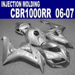 Free shipping fairing kit for HONDA Injection molding CBR1000RR 06 07 CBR1000 RR 2006 2007 silver plastic fairings set VV79