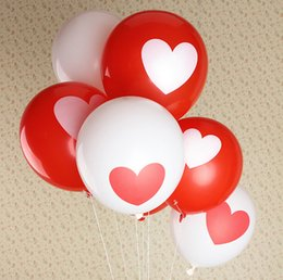 Wholesale white red printing heart balloon for Wedding Decorations fast shipping