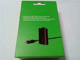 2016 charge de contrôleur sans fil xbox Gamepad Batterie avec jeu de câbles, charge Play Kit pour Xbox One contrôleur sans fil batterie boîte de jonction de câble peu coûteux charge de contrôleur sans fil xbox