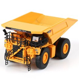 Wholesale KDW Scale Diecast Toys Mining Dump Truck Metal Construction Vehicle Model Toys for Collection
