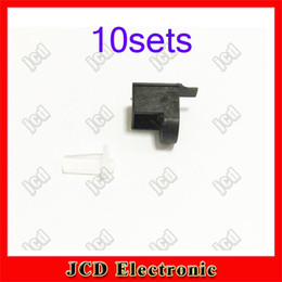 Wholesale-10set=20pcs for 3DS LL Shell Housing Screen Hinge Lock and LED Diffuser for 3DS XL Replacement parts