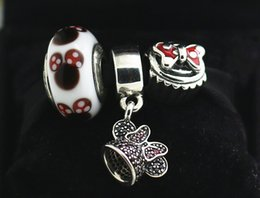 925 Sterling Silver Charms and Murano Glass Bead Set with Charm Box Fits European Jewelry Charm Bracelets -Hat
