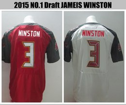 Wholesale 2015 Draft Pick Jersey Tampa Bay Jameis Winston white red Buccaneers jersey
