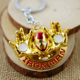 Wholesale NEW Hot fashion Cartoon movie key chain toys high quality Iron man Alloy keychain Toys best gifts cc170