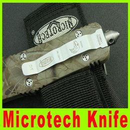 Wholesale Outdoor Camping OEM Microtech Knife Troodon C Knife Double blade outdoor camping knives cutting tool best gift X